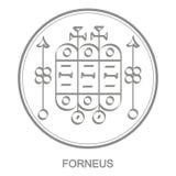 Vector icon with symbol of demon Forneus
