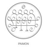 Vector icon with symbol of demon Paimon