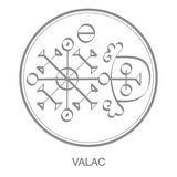 Vector icon with symbol of demon Valac