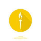Vector icon of  torch. Stock Image