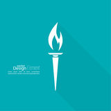 Vector icon of  torch. Royalty Free Stock Photography