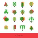 Vector Icon Tree. Vector set tree. Geometric tree. Vector green tree. Abstract color tree Vector Illustration