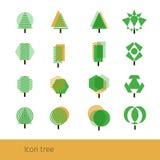 Vector Icon Tree Yellow Stock Photography