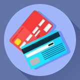 Vector icon of two payment cards royalty free illustration