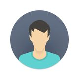 Vector icon of user avatar for web site or mobile Stock Images