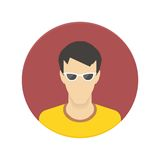 Vector icon of user avatar for web site or mobile Royalty Free Stock Photography