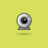 Vector icon web camera for computer or laptop Royalty Free Stock Photo