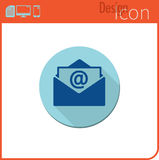 Vector icon on white background. Designer trend. Email icon new mail. Button for communication. Stock Image
