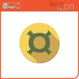 Vector icon on white background. Designer trend. Icon, currency, money. Currency exchange. For use on the Web site or application. Royalty Free Stock Image