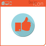 Vector icon on white background. Designer trend. Like, icon I like. For use on the Web site or app. Stock Photos
