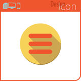 Vector icon on white background. Designer trend. Menu Icon For use on the Web site or application. Stock Images