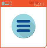 Vector icon on white background. Designer trend. Menu Icon For use on the Web site or application. Stock Image