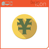 Vector icon on white background. Designer trend. Yuan Icon currency, money. Currency exchange. For use on the Web site or applicat Royalty Free Stock Images