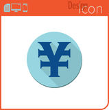 Vector icon on white background. Designer trend. Yuan Icon currency, money. Currency exchange. For use on the Web site or applicat Stock Image