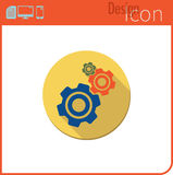 Vector icon on white background. The work of the mechanism. The gear Icon For use on the Web site or application. Royalty Free Stock Photos