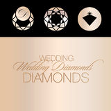Vector Icons of Jewellery Royalty Free Stock Photography