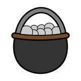 Vector - icono del vector del huevo Imagenes de archivo