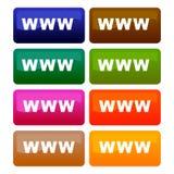 Vector. Iconos de WWW stock de ilustración