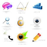 Vector icons. Set of different creative  icons Royalty Free Stock Photos