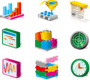 Vector icons. For net services and developments royalty free illustration