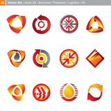 Vector icons: 3d set Stock Photo