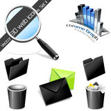 Vector icons: 3D web icons. Set 2. Royalty Free Stock Photo