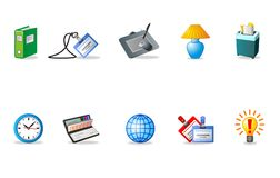 Vector Icons. Vector graphic icons of different objects Royalty Free Stock Photos
