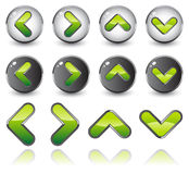 Vector icons. Arrow vector icons with reflection royalty free illustration