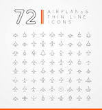 Vector icons of airplanes Royalty Free Stock Photos