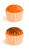 Vector icons of appetizing cakes Royalty Free Stock Photos
