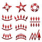 Vector icons of arrows Stock Photos