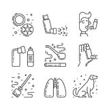 Vector icons asthma Stock Image