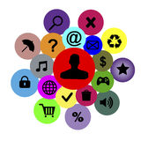 Vector icons and badges Stock Image