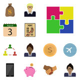 Vector icons benefit/ Flat icons benefit/ Icons set benefit/ Icon puzzles, Stock Images