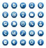 Vector icons for business metaphors Royalty Free Stock Images