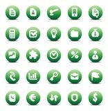 Vector icons for business metaphors Stock Photo