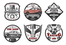 Set of icons for auto service Stock Image