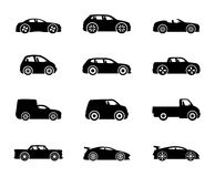 Vector icons. Cars. Vector icons isolated on white background. Cars Royalty Free Stock Photo