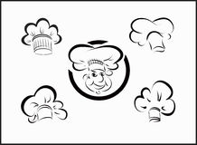 Vector icons chefs Stock Images
