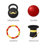 Vector icons circus artists Stock Photo