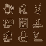 Vector Icons Cleaning Stock Photo