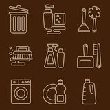 Vector Icons Cleaning Stock Image
