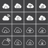 Vector Icons for Cloud Computing Stock Photography