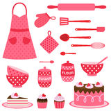 Vector icons collection on baking theme Stock Image