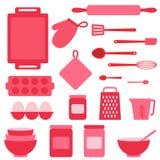 Vector icons collection on baking theme Stock Photos