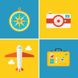Vector icons and concepts in flat style. Stock Photo