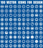 Vector icons for design Stock Images
