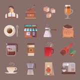 Vector icons. Drinks. Coffee. Royalty Free Stock Photography