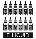 Vector Icons of  E-Liquid Stock Images