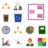 Vector icons earnings/ Flat icons earnings/ Icons set earnings/ Icon correspondence, message, Stock Photos